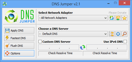 Quick change of DNS
